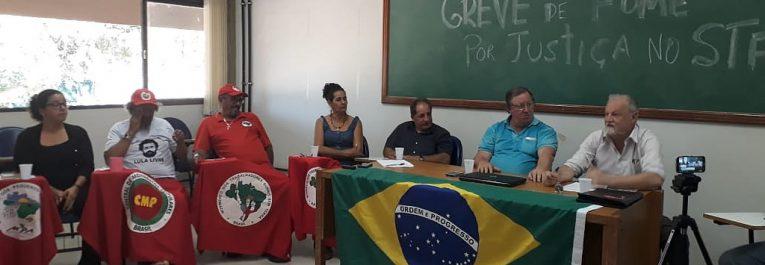 Por la libertad de Lula, militantes comienzan huelga de hambre y exigen justicia en el Supremo Tribunal Federal de Brasil