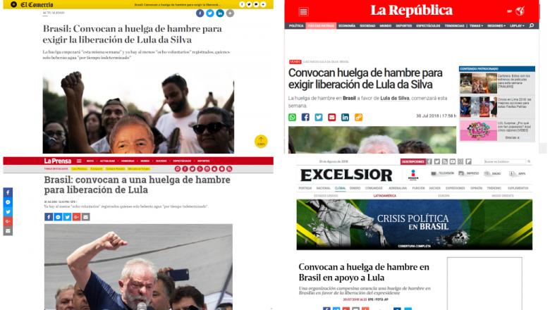 Imprensa internacional repercute ato extremo por Lula Livre
