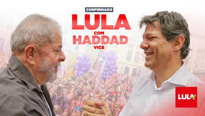 Lula, Haddad y Manuela: PT y PCdoB confirman fórmula de izquierda para vencer quinta elección consecutiva