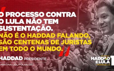 Centenas de juristas em todo o mundo já disseram que processo contra Lula não se sustenta