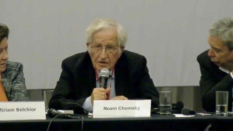 """Chomsky """"Brasil fue el más respetado con Lula y Celso Amorim"""""""