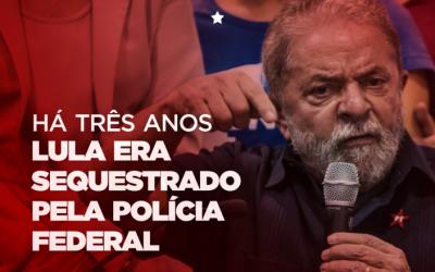"""Episódio da """"condução coercitiva"""" completa 3 anos de perseguição a Lula"""