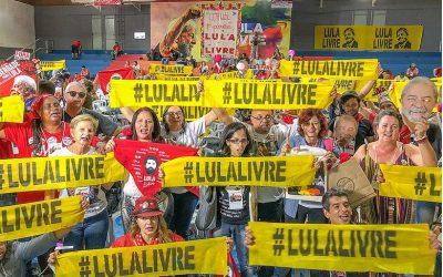 Carta de Lula emociona milhares em Encontro Nacional Lula Livre