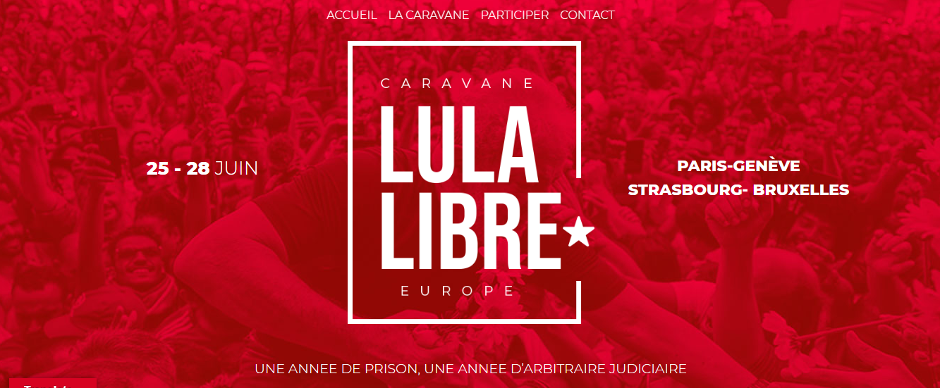 Free Lula Convoy Throughout Europe Free Lula International