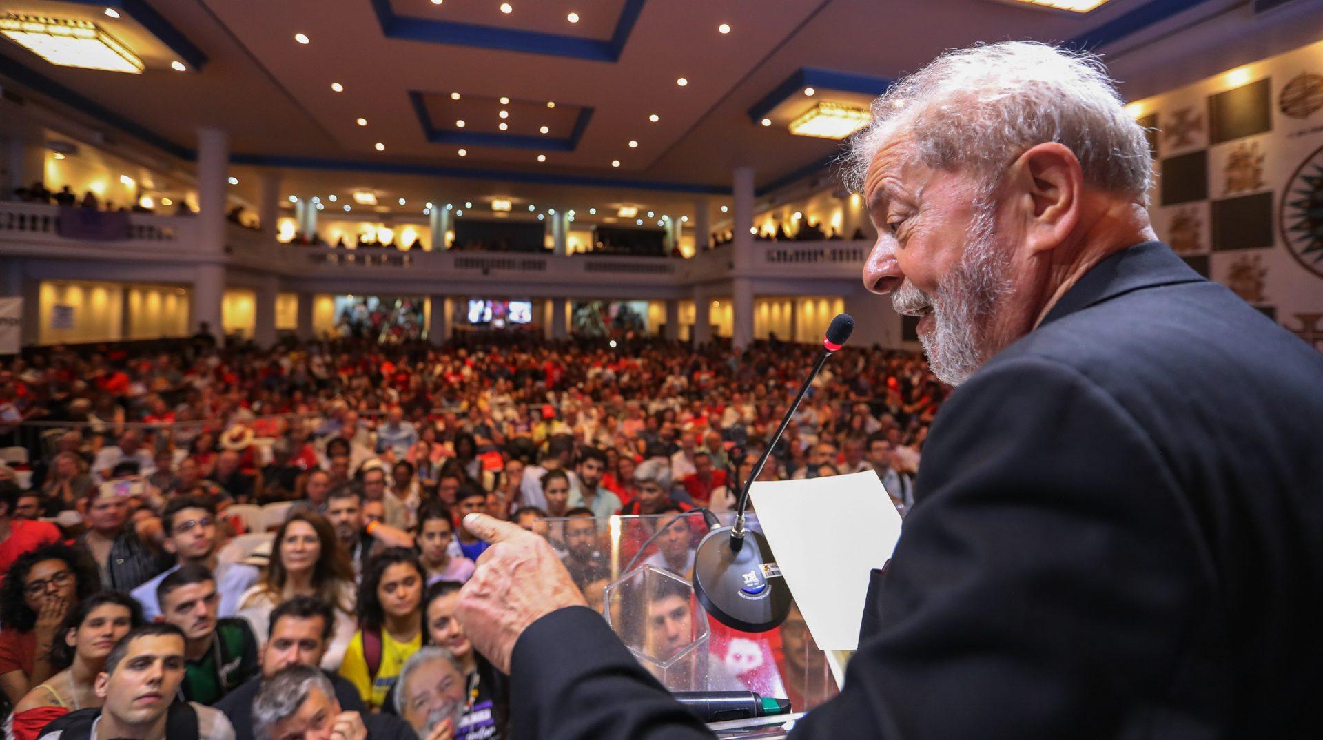 Lula auf dem Kongress der Arbeiterpartei